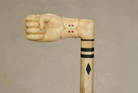 Ivory hand and whalebone nautical cane sold at Tradewinds' all-cane auction for $6,490 against a $3,000-$4,000 estimate.